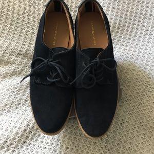 Tommy Hilfiger blue suede shoes